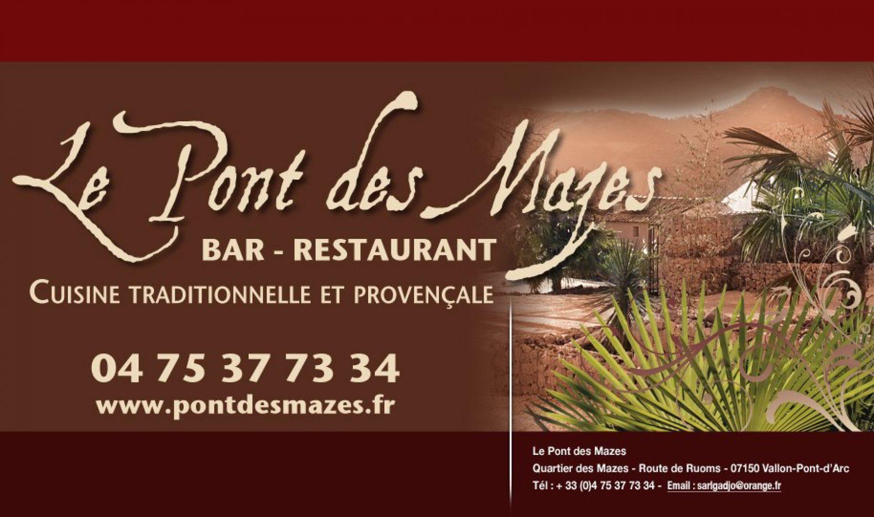 Restaurant le Pont des Mazes